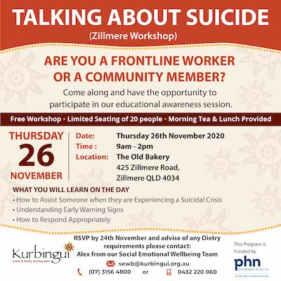 Talking About Suicide (Zillmere)